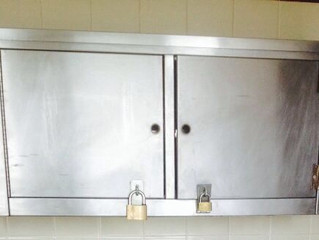 Scratch removal and polish to every stainless steel surface in this busy kitchen