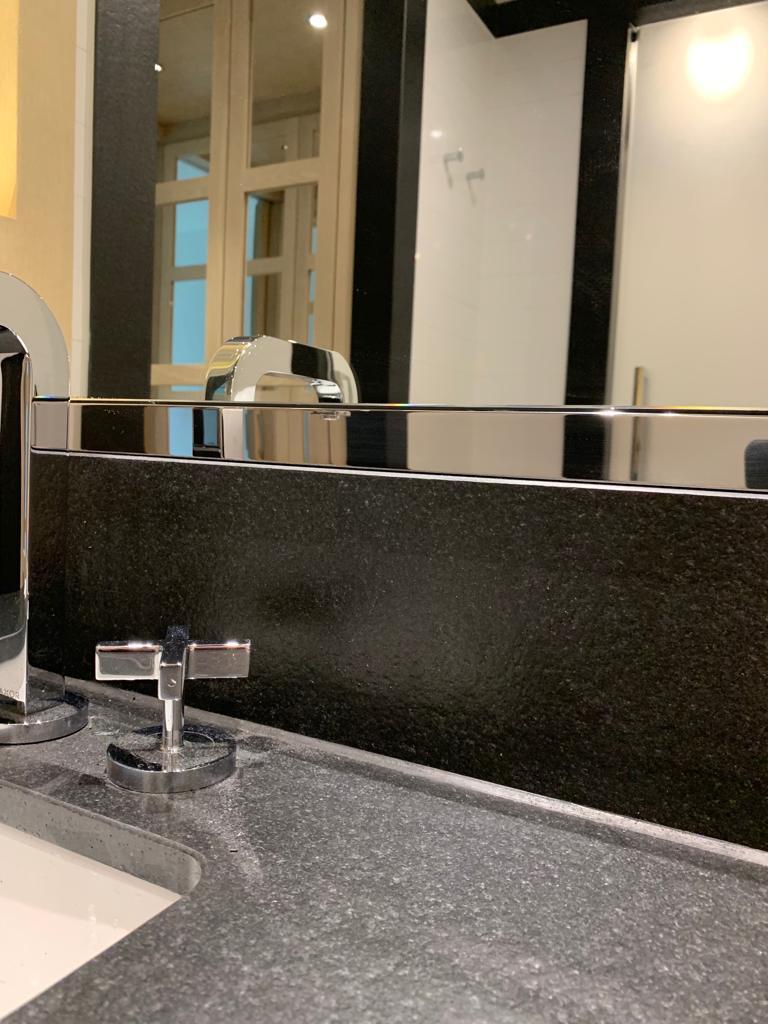 Metal mirror trim restored