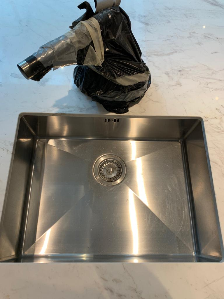 stainless steel sink- Before
