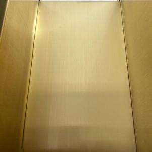 Brass kitchen unit-After