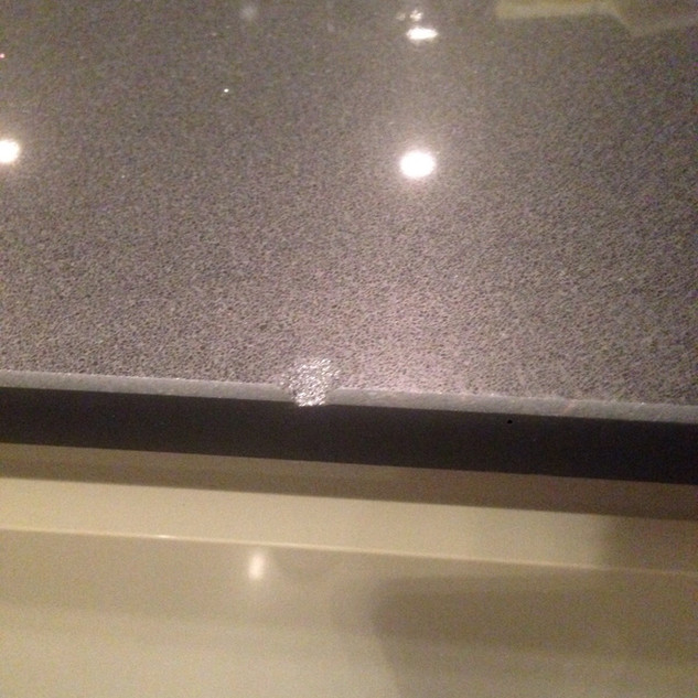 Chipped worktop-Before