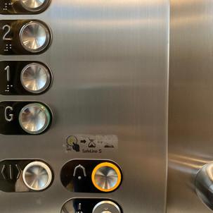 Internal lift control panel-After