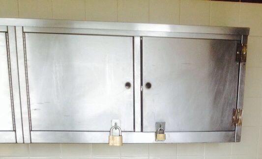 Stainless steel cupboard- Before