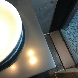 Corian sink surround-During