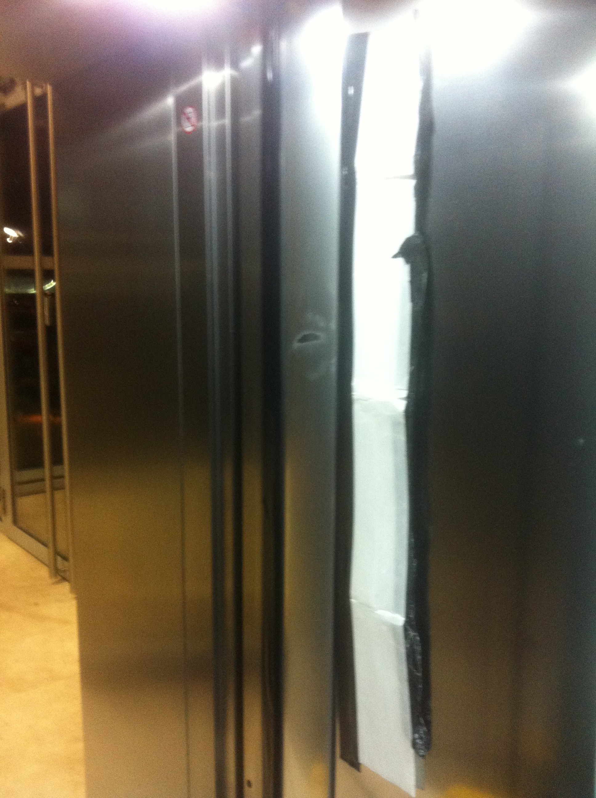 Damaged lift- During