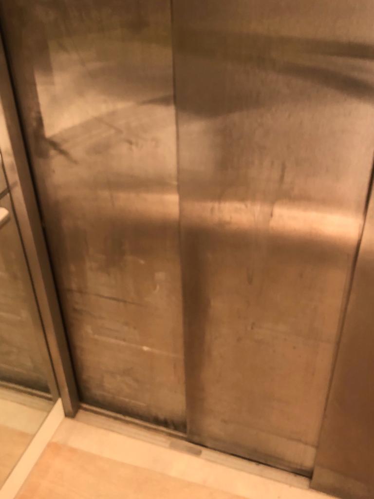 internal lift car door skins- before