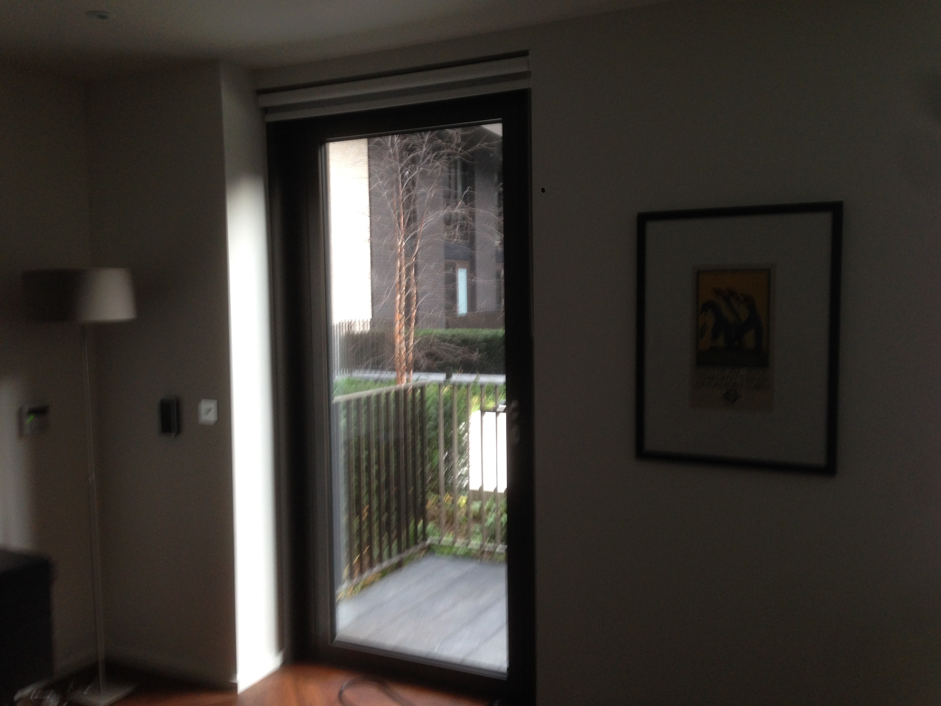 Privacy Film Installation - Before