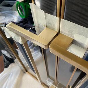 Brass handles-During