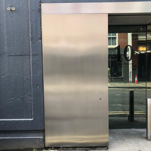 Stainless steel panel-After