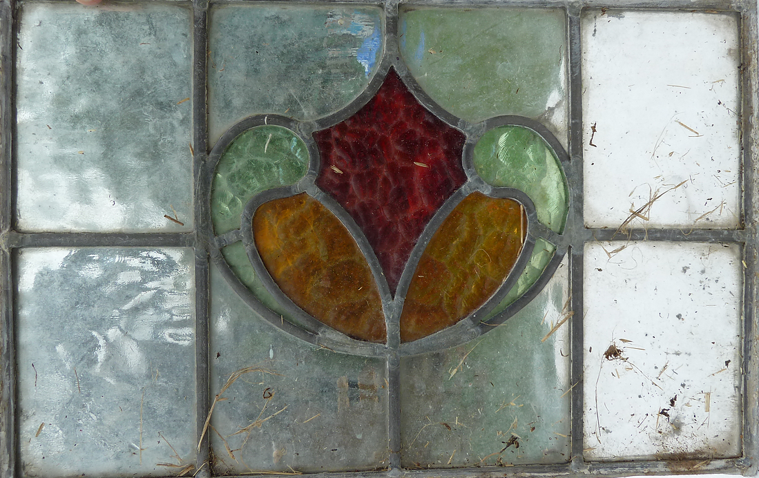Stained glass window pane- Before