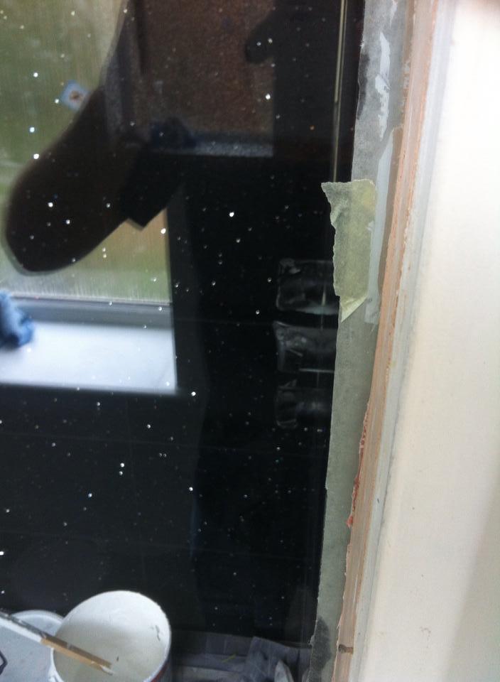 Damaged shower screen- After