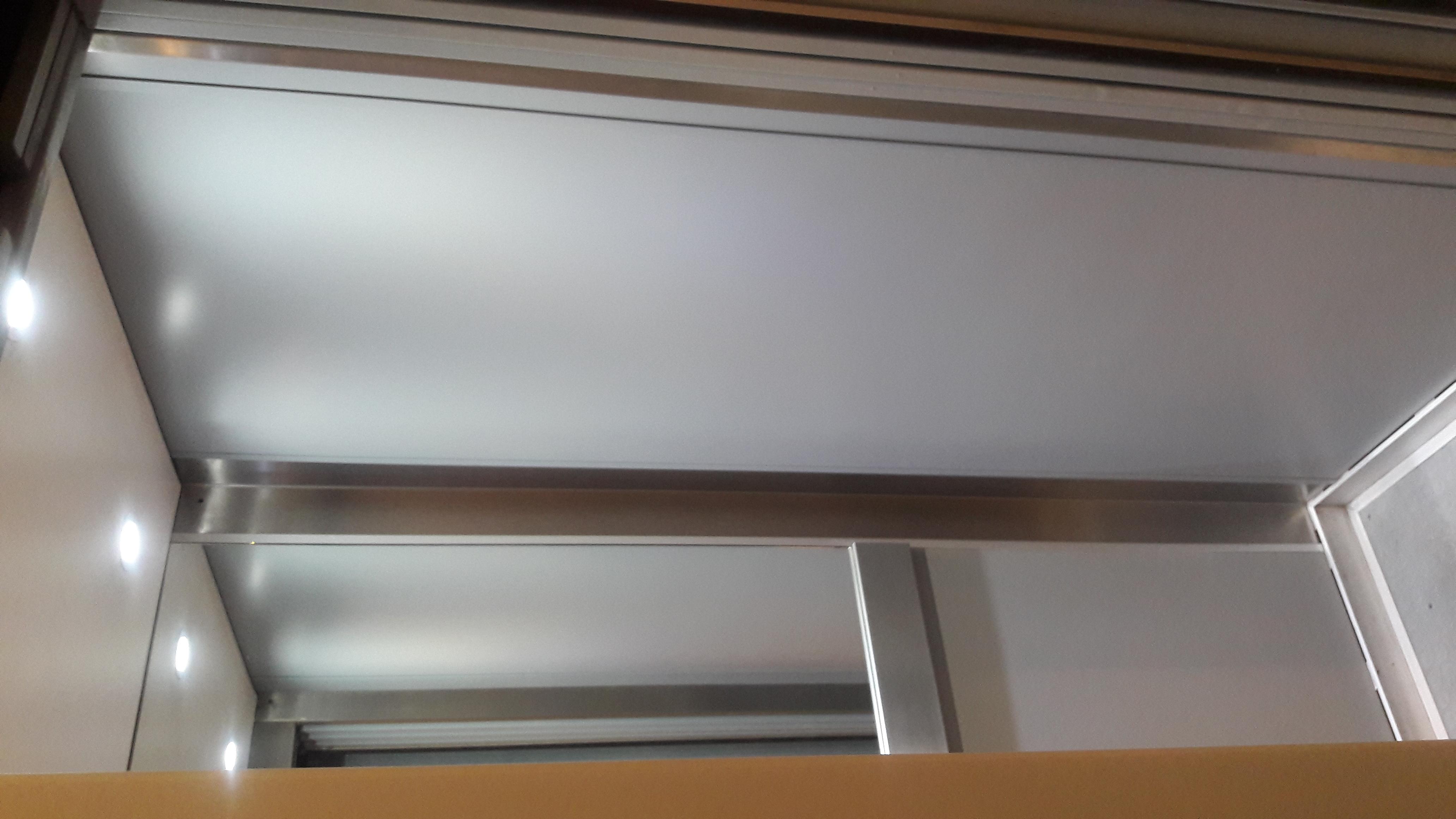 Internal lift car respray
