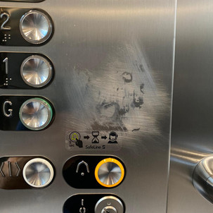 Internal lift control panel-Before