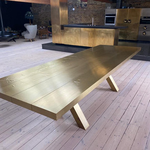 Brass table-After