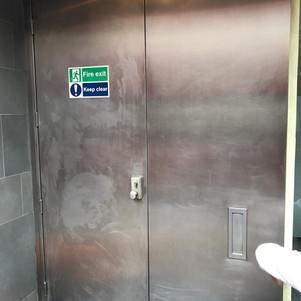 External fire doors