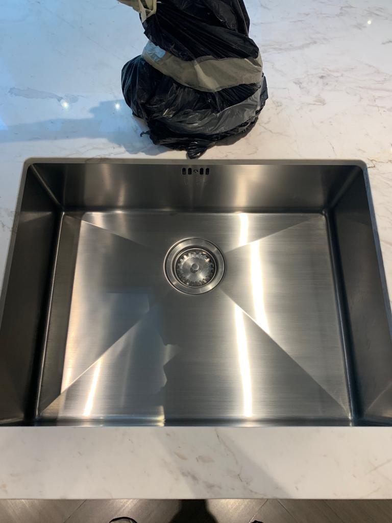Stainless steel sink restored