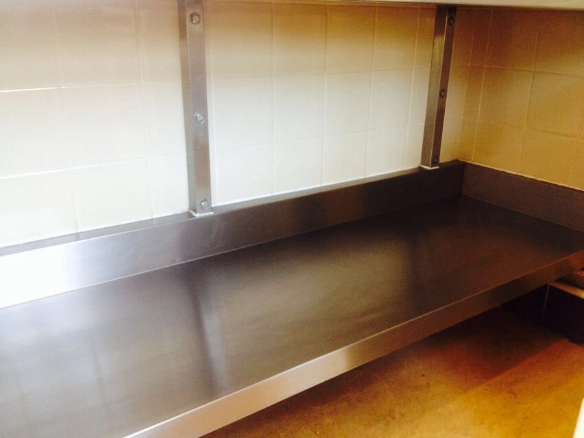 Stainless steel storage shelf