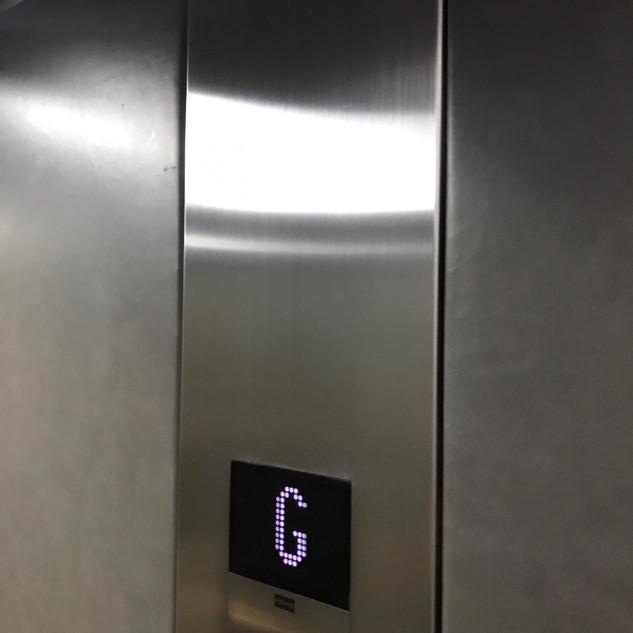 Internal lift car control panel