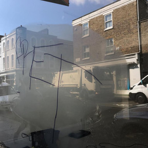 Shopfront window-During