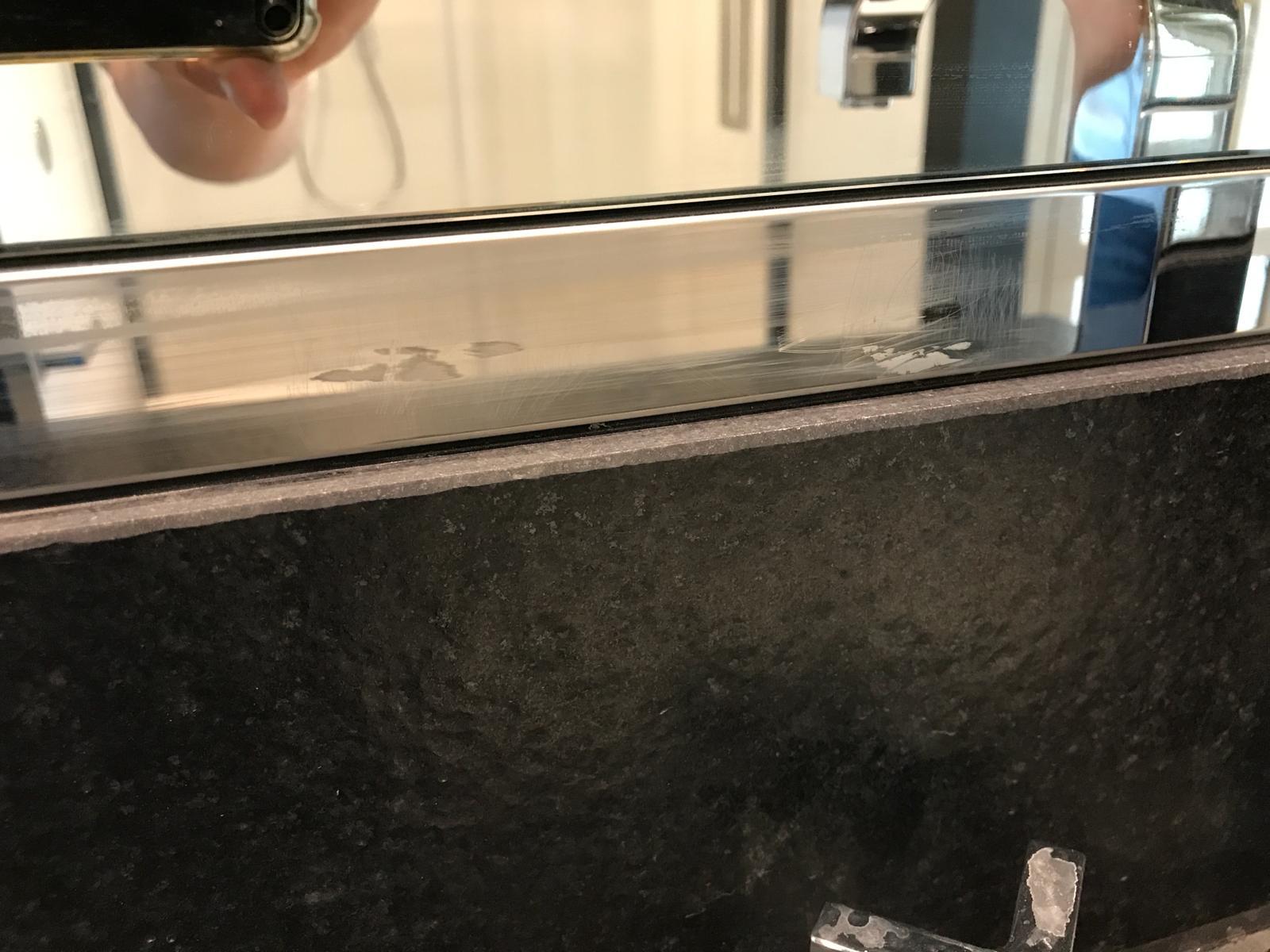 Metal mirror trim- Before