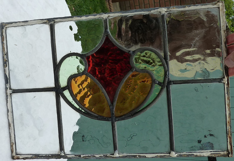 Stained glass window pane- After