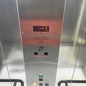 Internal lift car control pane