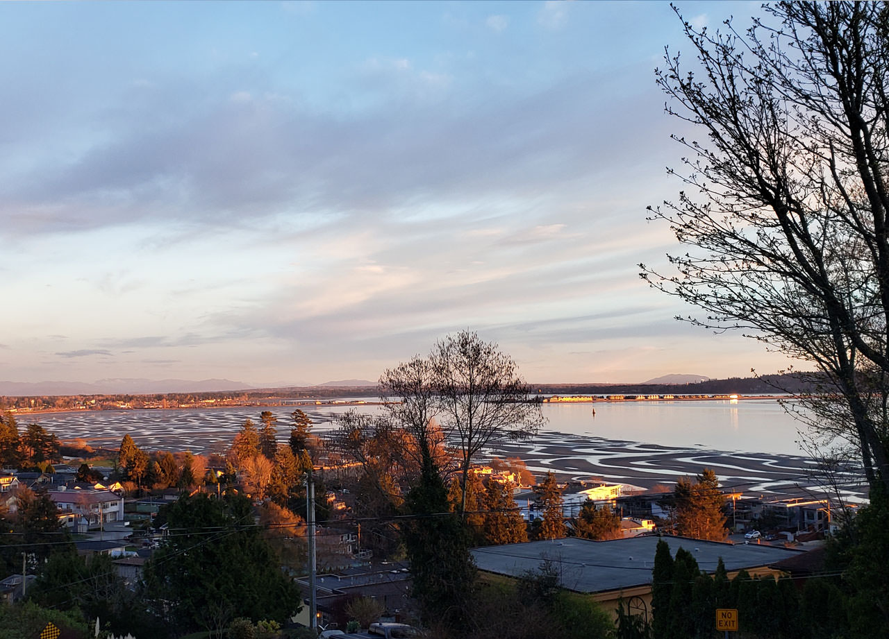 weeken with colin view of Semiahmoo Bay.