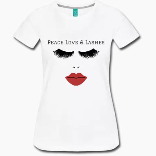PEACE LOVE & LASHES Tee