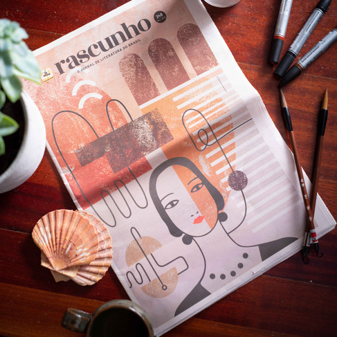 Rascunho Cover Clarice Lispector