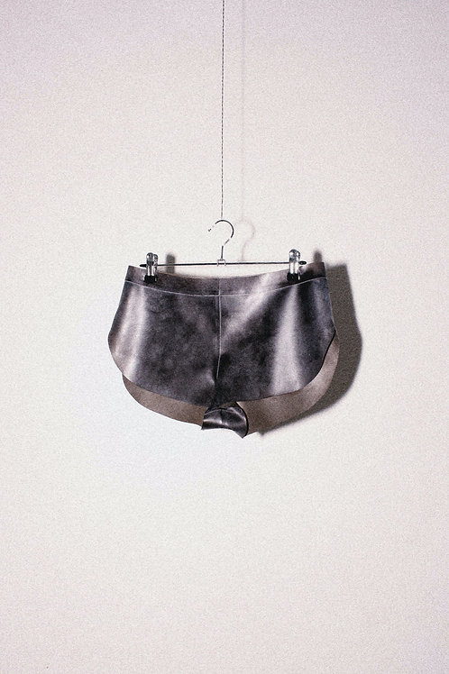 Hand Dyed Powdered Brown Running Shorts