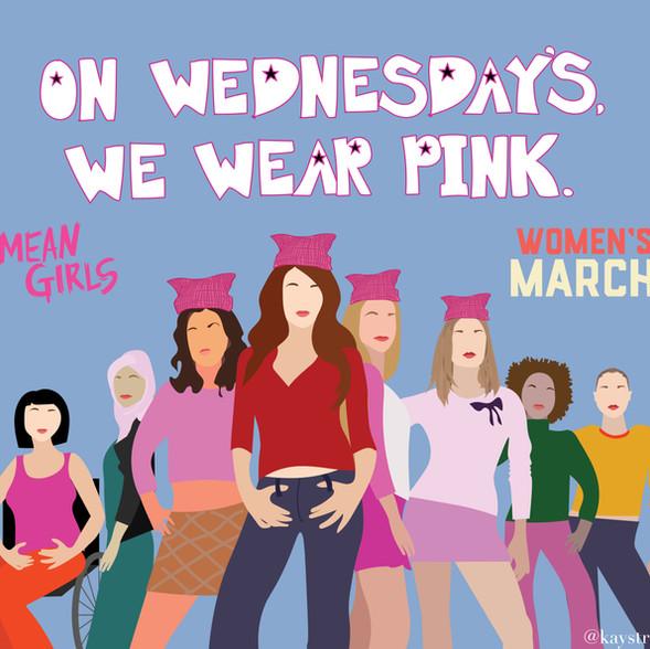 Mean Girls x Women's March Illustration