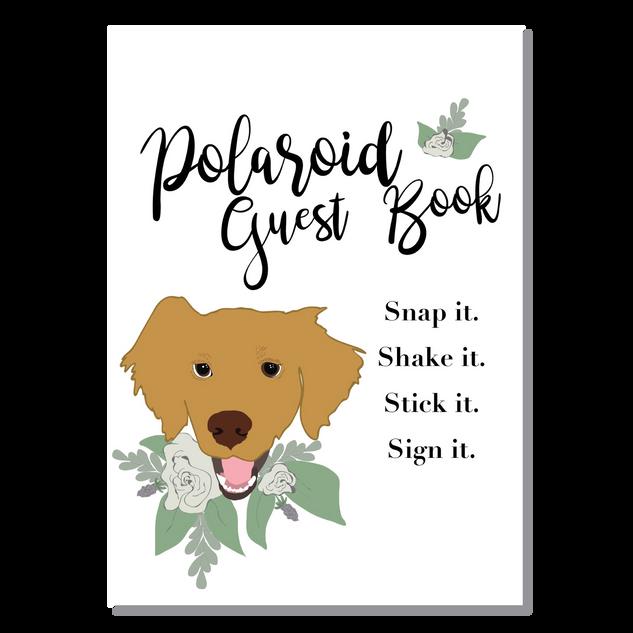 Guest Book Sign with Pet's Portrait