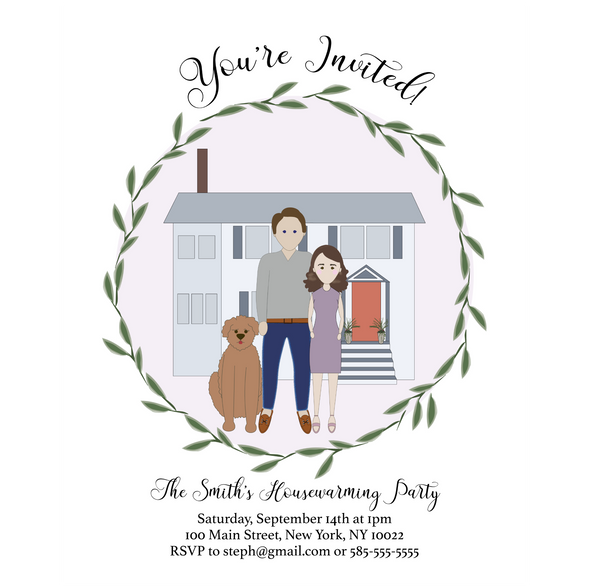 Portrait Created for Housewarming Party