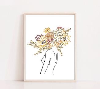 Boho Flower Heads_2 of 3_framed.png