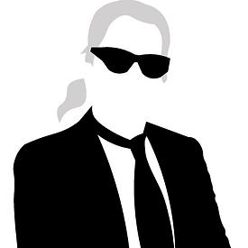 Karl Lagerfeld Portrait Illustration Pop Culture