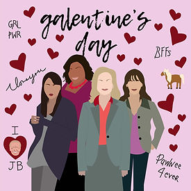 Park and Rec Galentines Day Illustration Pop Culture