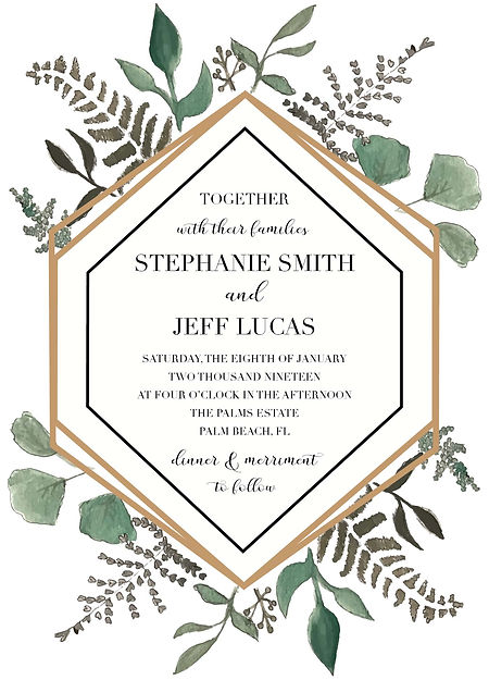 Wedding_Greenery Terrarium_Invitation_Sa