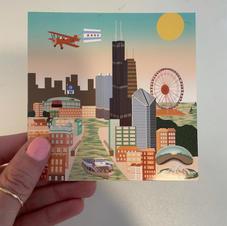 CHICAGO STICKER (SQUARE)