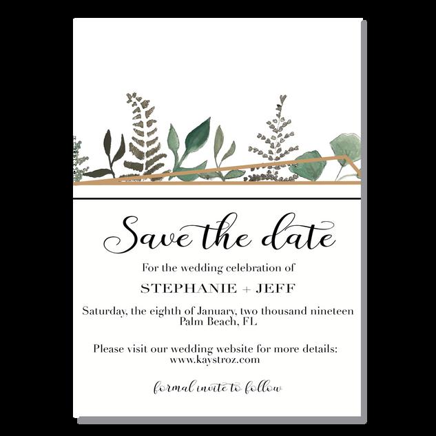 Succulent/Terrarium Save the Date