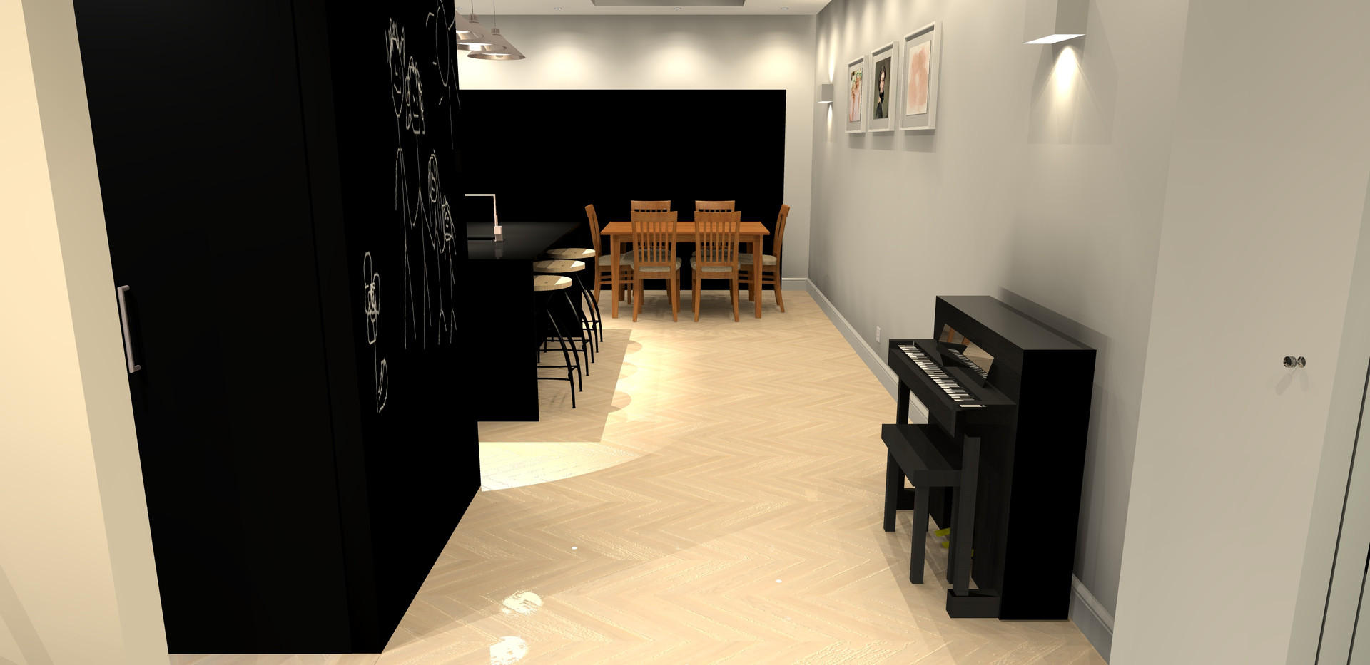 Remodeled downstairs