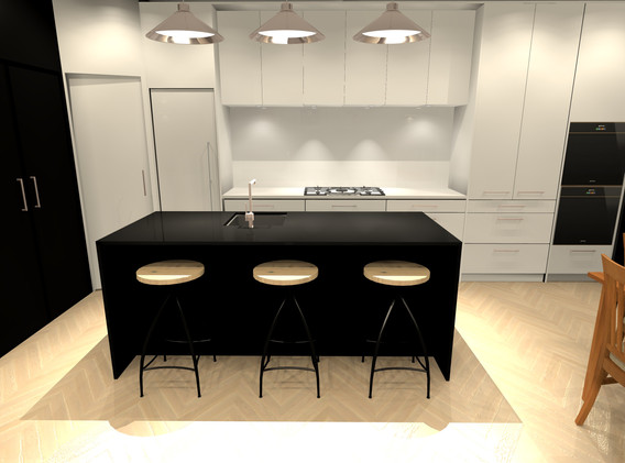 Bespoke kitchen.