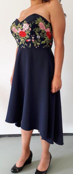 Strapless jurk met korset