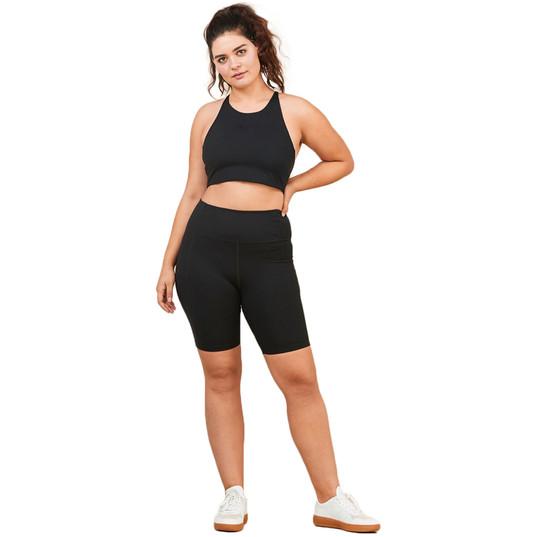 Black Compressive Bike Shorts