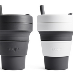 Stojo Collapsible & Reusable Cups with Straw