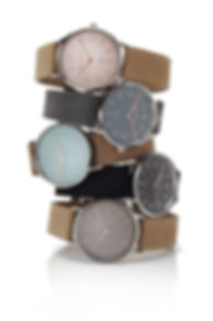 Bergmann Uhren Cor Collection, Damen- und Herren-Armbanduhren in exclusiven Design mit echtem Wildleder-Armband