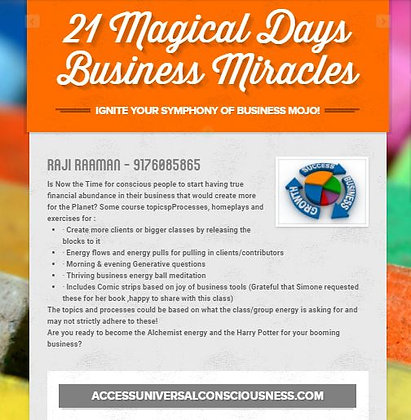 21 magical days to Business Miracles!