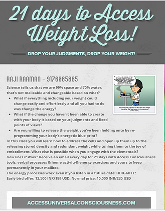 21 days to access weight loss with EJG