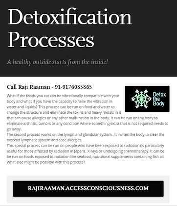 Detoxification Processes