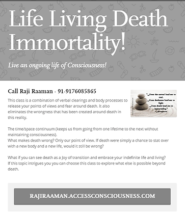 Life Living Death & Immortality!