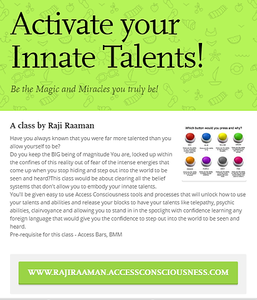 Activate your Innate Talents!